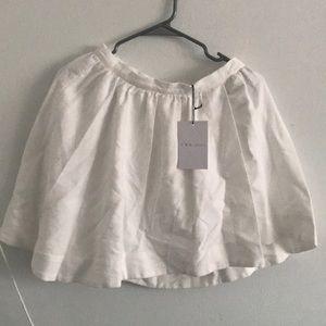 NWT $220 Iro Jeans Sz 36 White Pleated Skirt